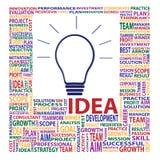 Letter jigsaw present light bulb idea concept Stock Photography