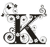 Letter K stock illustration