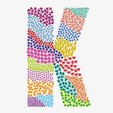 Letter K. Alphabet  graphic illustration design Stock Image