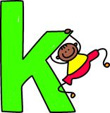 Letter K boy Royalty Free Stock Photography