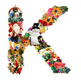 Letter K, for Christmas decoration Royalty Free Stock Image
