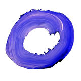 Letter O drawn with blue paints Royalty Free Stock Images