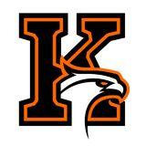 Letter K with eagle head. Great for sports logotypes and team mascots vector illustration