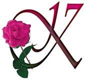 Letter K Floral FONT Stock Image