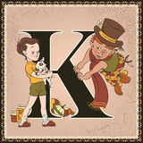 Letter K. Karlsson and Lillebror Stock Photo