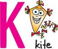 Letter K - kite Royalty Free Stock Image