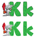 Letter K knight Stock Photo