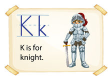 A letter K for knight Stock Photo