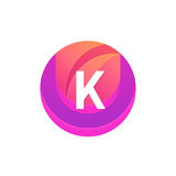 Letter K logo abstract circle shape element. Vector round compan Royalty Free Stock Photography