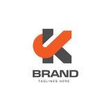 Letter K logo concept. Letter K logo strong elegant classy concept, creative letter K template logo Stock Image