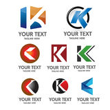 Letter K logo concept Stock Photo
