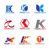Letter K logo vector set design Stock Photo