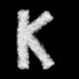 Letter K made of the clouds Royalty Free Stock Photography