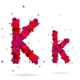 Letter k made from hearts. Love alphabet Stock Photography