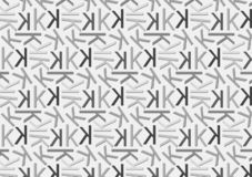 Letter K pattern in different colored grey shades for wallpaper. Letter K pattern in different color grey shades for wallpaper background use vector illustration