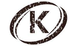 Letter K Rough Logo. Logo Design Template Vector Stock Photos