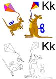 letter k  worksheet Stock Photo