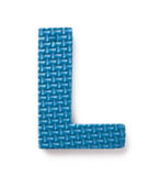 Letter L. Isolated on the white background Royalty Free Stock Images