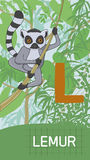 Letter L, animal ABC Stock Images