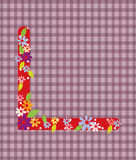 The letter L Bright floral element of colorful alphabet in  Royalty Free Stock Photography