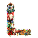 Letter L, for Christmas decoration Stock Images