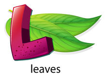 A letter L for leaves Stock Photography