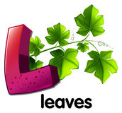 A letter L for leaves Stock Images