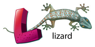 A letter L for lizard Stock Image