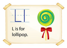 A letter L for lollipop Royalty Free Stock Photography
