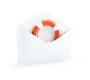 Letter Life Buoy Royalty Free Stock Photo