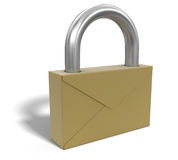 Letter lock (clipping path included) Royalty Free Stock Photos