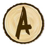 Letter A Log End Stock Images