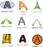 Letter A Logo. Alphabetical Logo Design Concepts. Letter A stock illustration