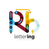 Letter logo business icon Stock Photo