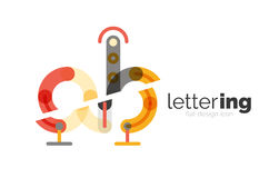 Letter logo business icon Royalty Free Stock Image