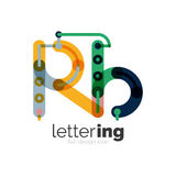 Letter logo business icon Royalty Free Stock Photo