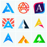 A letter logo company signs set vector design Stock Image