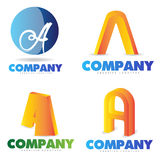 Letter A logo Stock Photography