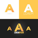Letter A logo design icon set background Stock Image