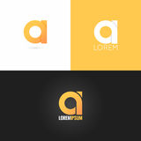 Letter  logo design icon set background Stock Photos