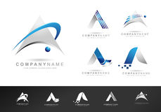 Letter A Logo Design Icons Royalty Free Stock Photography