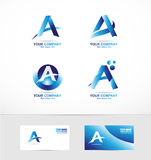 Letter a logo icon set Stock Photography