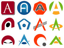 Letter A Logo Icons Stock Photography