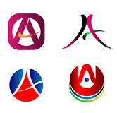 Letter A logo Icons Set Vector Graphic Design Royalty Free Stock Photography