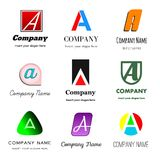 Letter A logo. Set of alphabetical Logo Design with different moods and Concepts - Letter A Royalty Free Stock Photography
