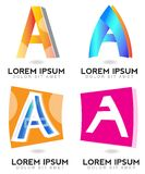 Letter A logo Royalty Free Stock Photography