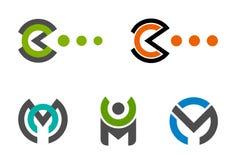 Letter logo set Stock Photo