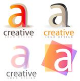 Letter A logo Royalty Free Stock Photos