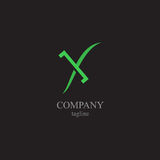 The letter X logo - a symbol of your business Stock Image