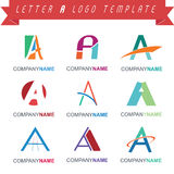 Letter A Logo Template Stock Photos